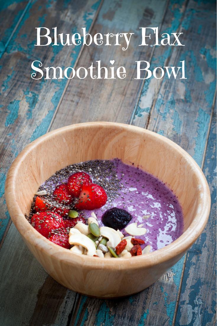 Blueberry Flax Smoothie Bowl