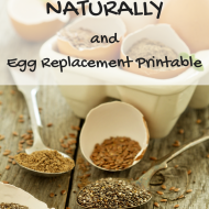 Going Eggless Naturally with Egg Substitute Printable
