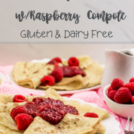 Crepes with Raspberry Compote