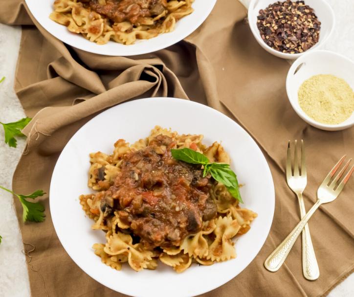 BowTie w/Spaghetti Sauce
