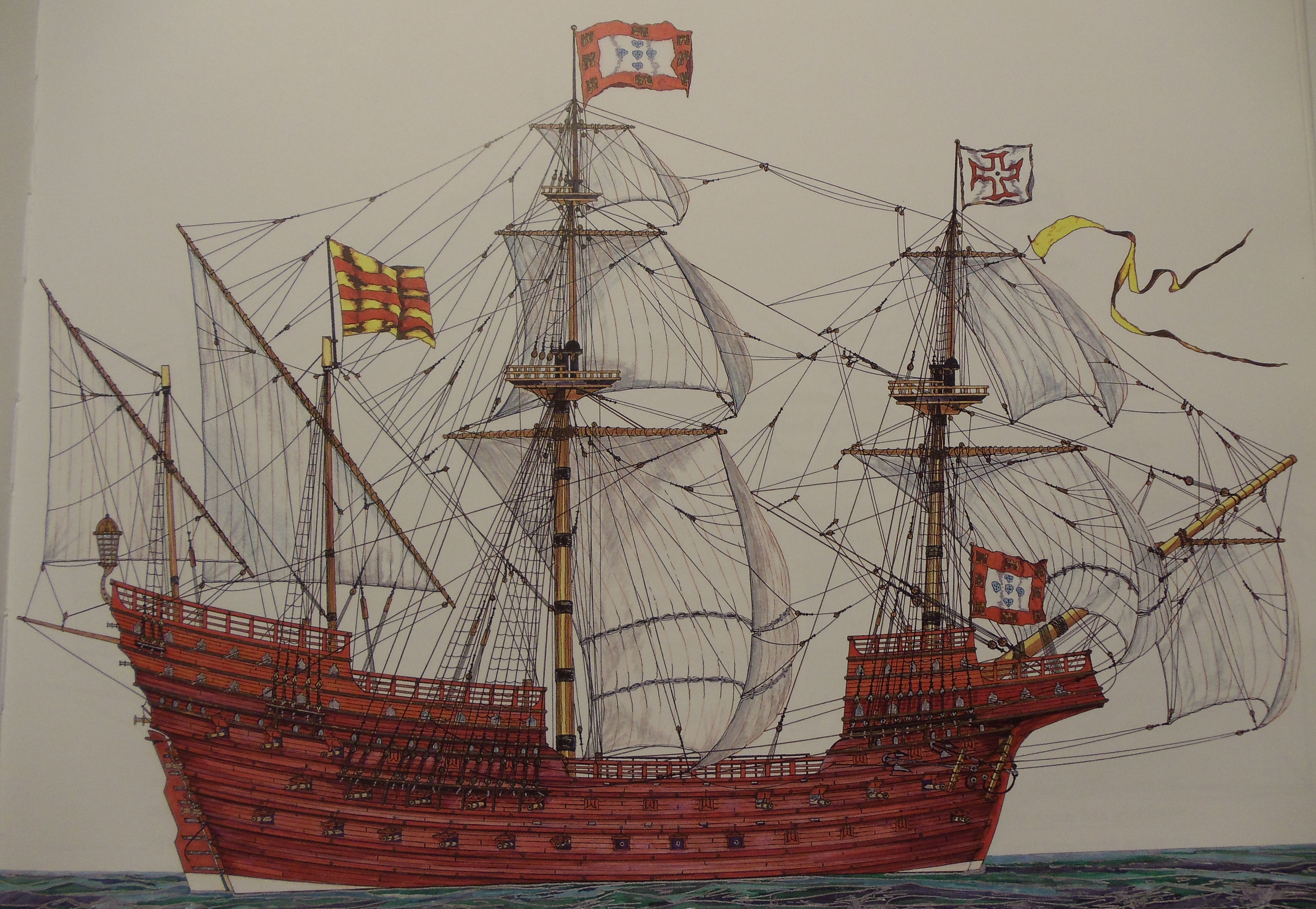 Portuguese Carrack - 1585 - Wheatley