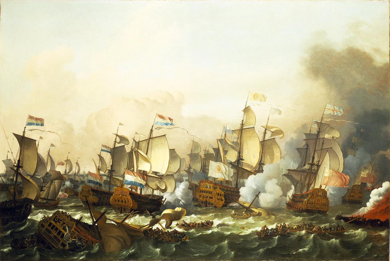 The Battle of Barfluer 1692 - Backhuysen