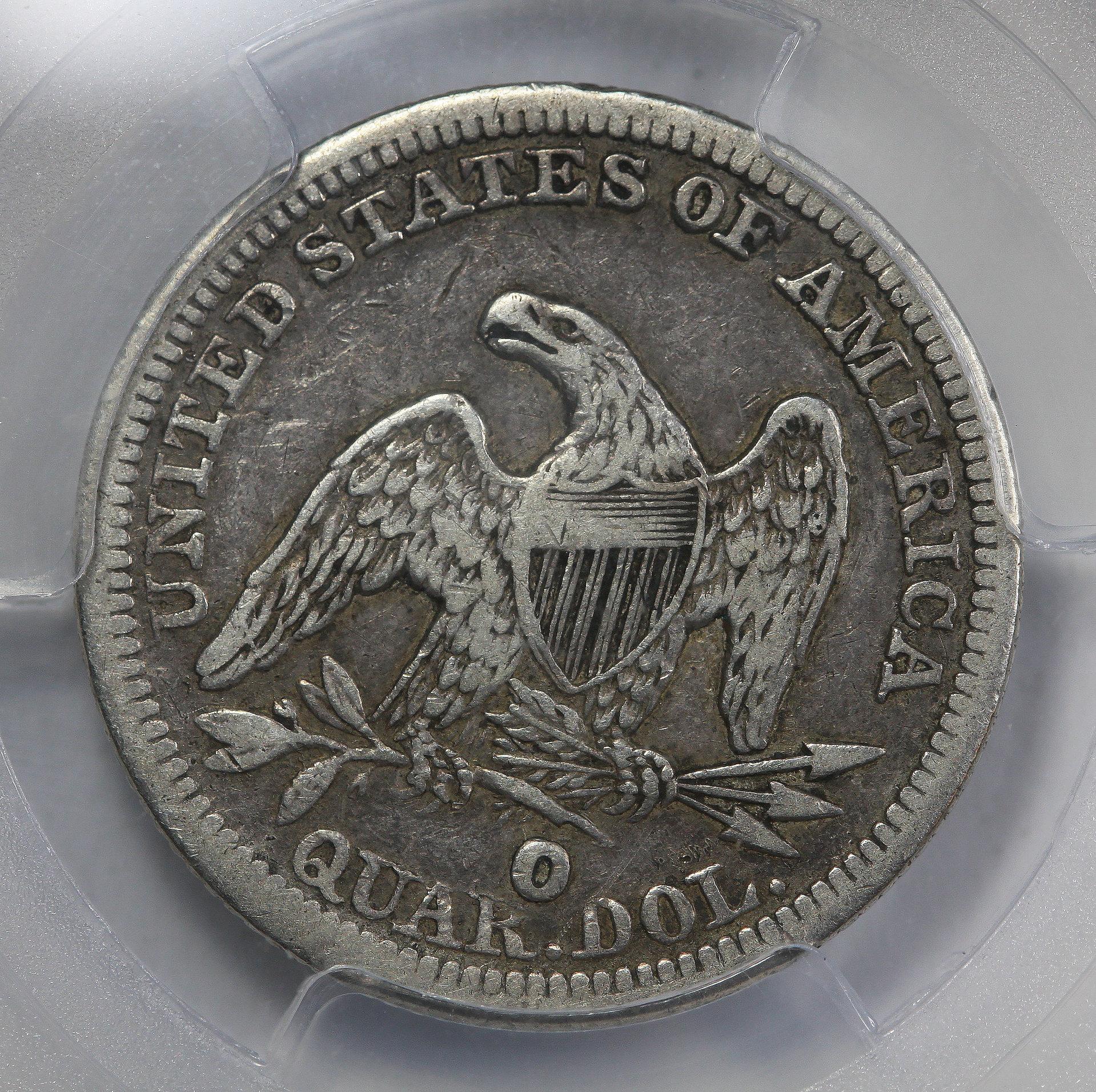 """1854 O """"HUGE O"""" Quarter"""