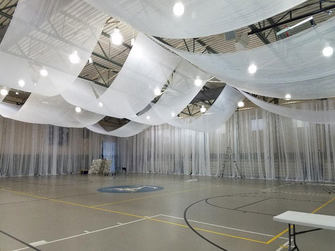 Ceiling treatments Monte Carlo Productions