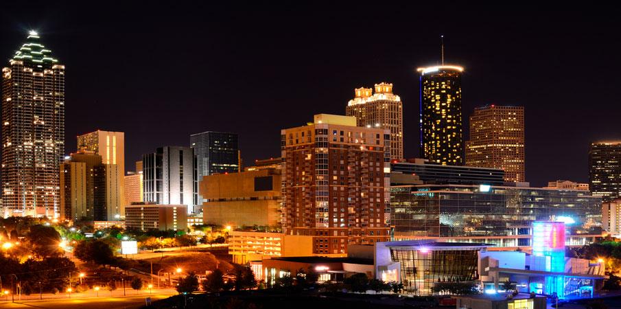 Atlanta Skyline backdrop