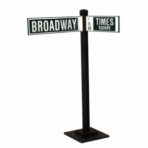 Times Square Broadway Street Sign Prop