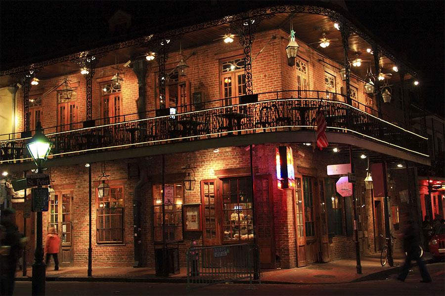 Bourbon Street backdrop