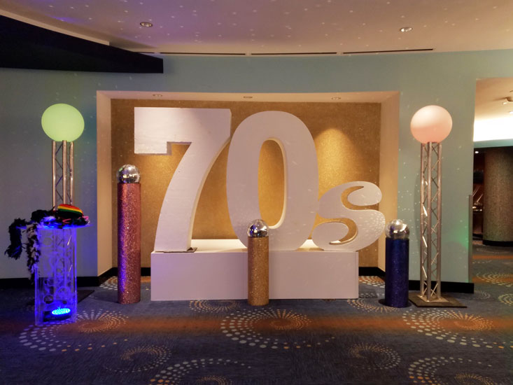 70s theme decor