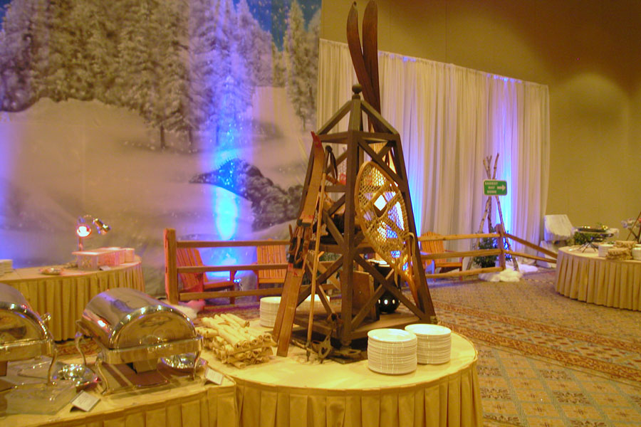 Winter Ski Lodge themed party