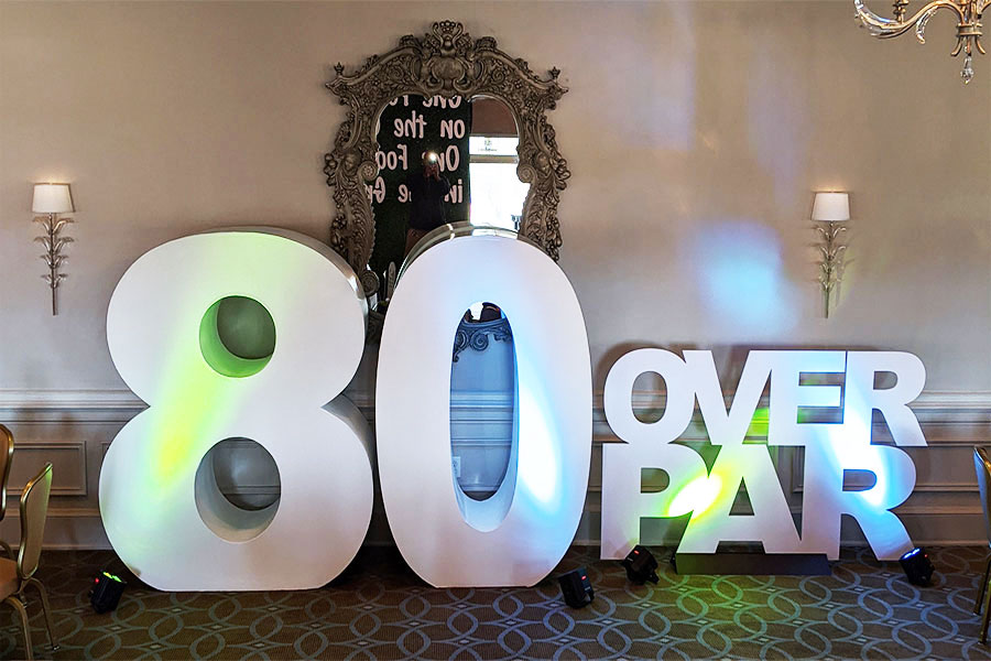 80th birthday theme decor