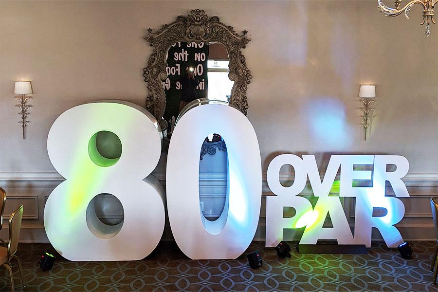 80th birthday theme decor