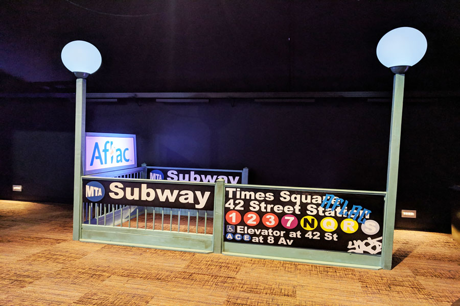New York Theme Decor Subway