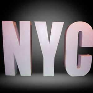 NYC block letters