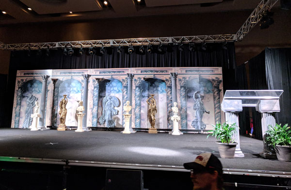 Stage sets and theme decor