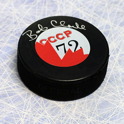 Bobby Clarke Signed Puck 1972 Team Canada/CCCP Summit Series