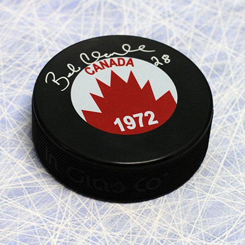 Bobby Clarke Signed Puck 1972 Team Canada Summit Series