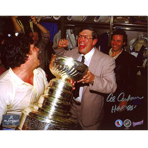 Al Arbour Stanley Cup NY Islanders Signed 8x10 Photo