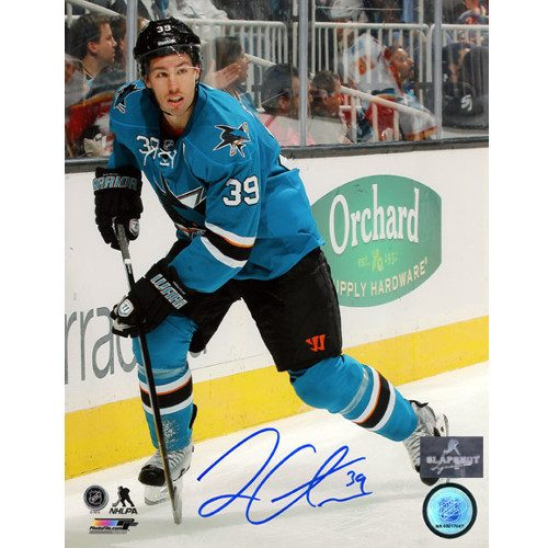 Logan Couture San Jose Sharks Autographed 8X10 Photo