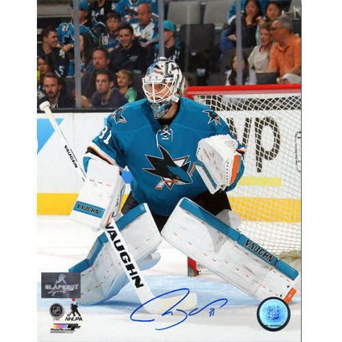 Martin Jones San Jose Sharks Autographed 8X10 Photo