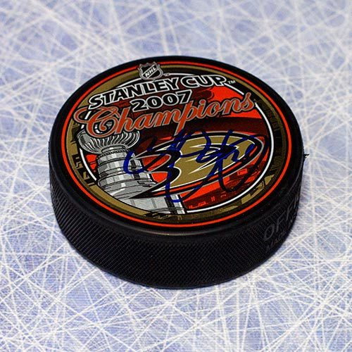 Chris Pronger Stanley Cup Anaheim Ducks Signed Puck
