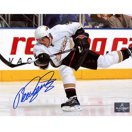Teemu Selanne Anaheim Ducks Signed 8X10 Slapshot Photo