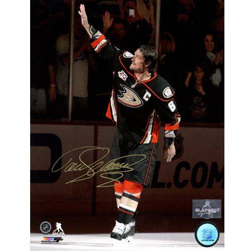 Teemu Selanne Anaheim Ducks Signed 8X10 Final Game Photo