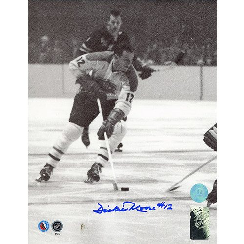 Dickie Moore Photos-Montreal Canadiens Signed Black & White 8x10