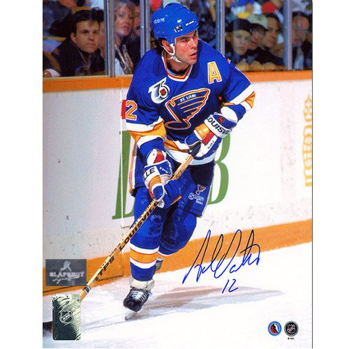 Adam Oates St. Louis Blues Autographed 8x10 Action Photo