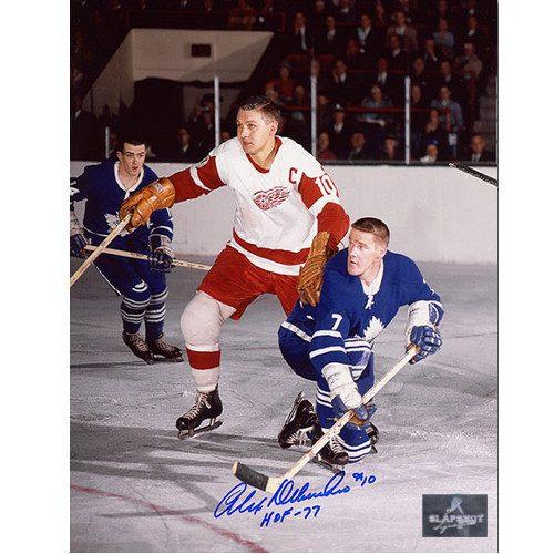 Alex Delvecchio Detroit Red Wings Signed Original Six 8x10 Photo