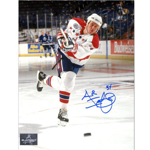 Al Iafrate Washington Capitals Signed Slapshot 8x10 Photo
