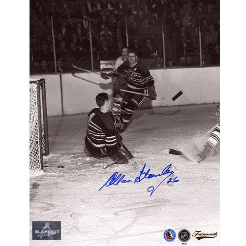 Allan Stanley Chicago Blackhawks Signed Original Six Action 8x10 Photo