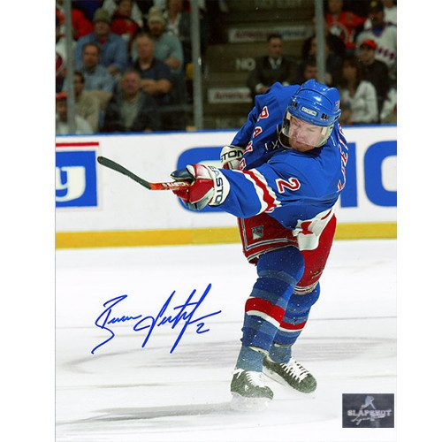 Brian Leetch New York Rangers Autographed Slapshot 8x10 Photo