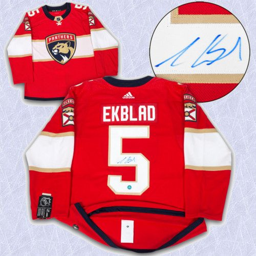Aaron Ekblad Adidas Jersey Autographed Authentic-Florida Panthers