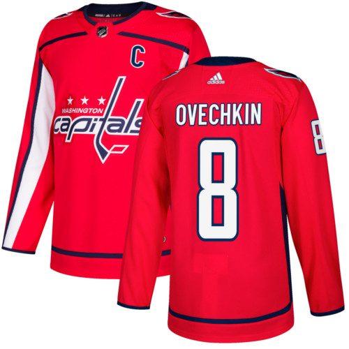 Alexander Ovechkin Washington Capitals Adidas Authentic Home NHL Hockey Jersey
