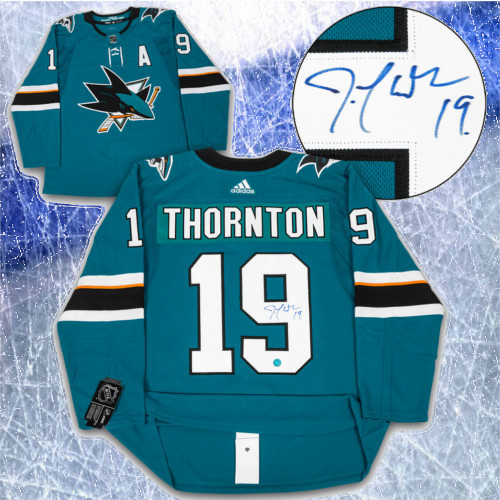 Joe Thornton Adidas Jersey Autographed Authentic-San Jose Sharks