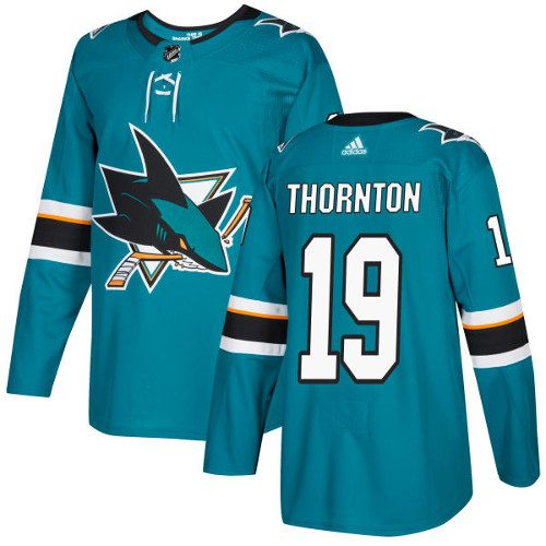 Joe Thornton San Jose Sharks Adidas Authentic Home NHL Hockey Jersey
