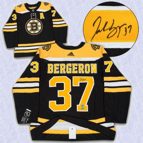 Patrice Bergeron Adidas Jersey Signed-Boston Bruins