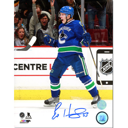 Bo Horvat Vancouver Canucks Autographed First Goal 8x10 Photo