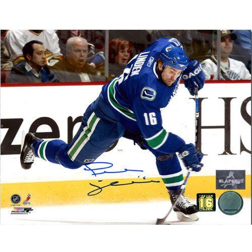 Trevor Linden Vancouver Canucks Autographed Slapshot 8x10 Photo
