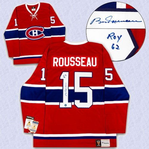 Bobby Rousseau Montreal Canadiens Signed Fanatics Vintage Jersey with ROY 62