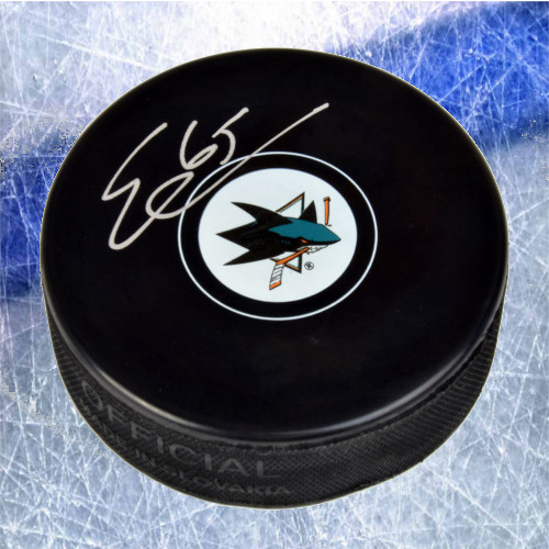 Erik Karlsson San Jose Sharks Autographed Hockey Puck