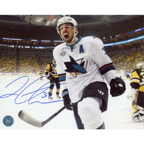 Logan Couture San Jose Sharks Autographed 8X10 2016 Cup Finals Photo