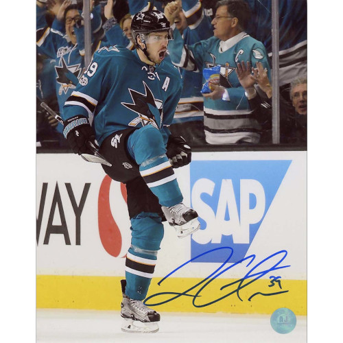 Logan Couture San Jose Sharks Autographed 8X10 Action Photo