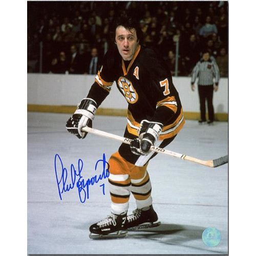 Phil Esposito Boston Bruins Signed 8x10 Action Photo