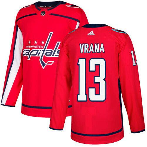 Jakub Vrana Washington Capitals Adidas Authentic Home NHL Hockey Jersey