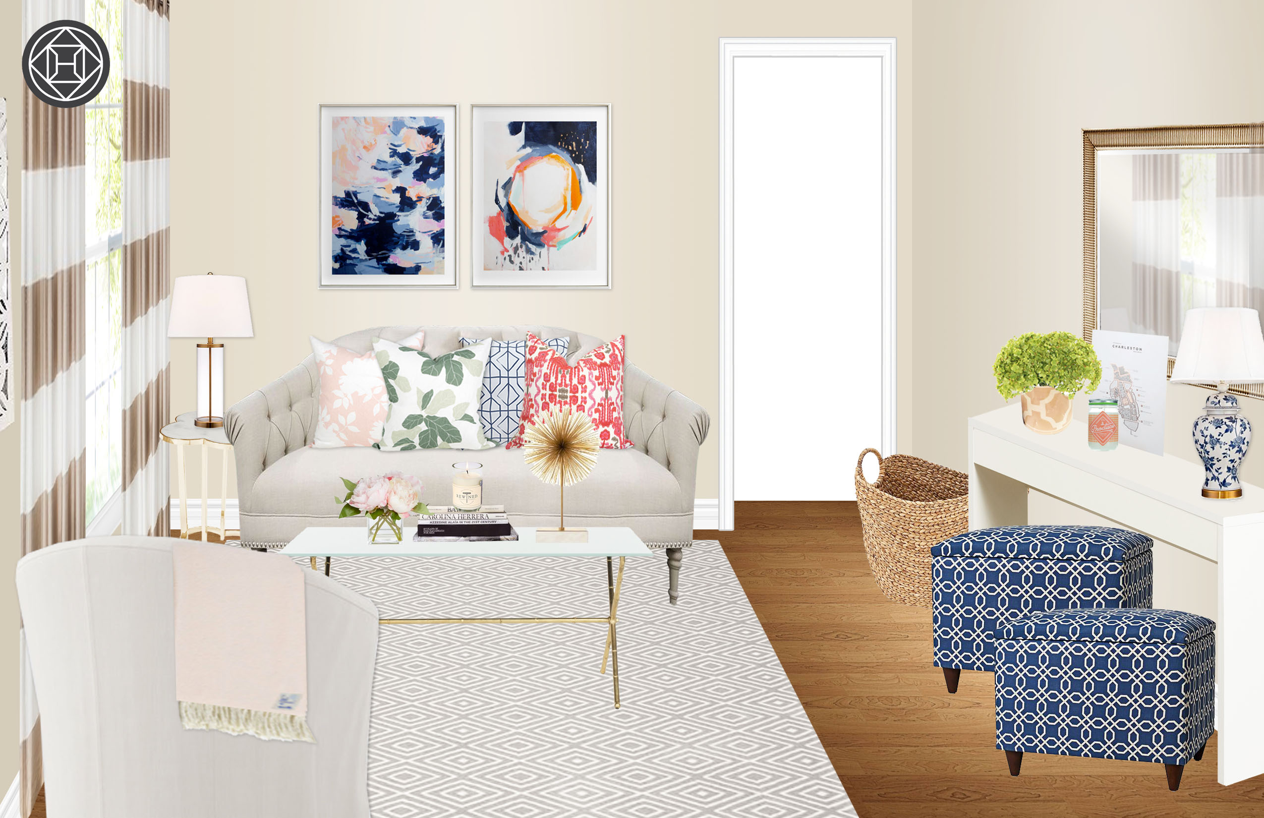 havenly blogger living room