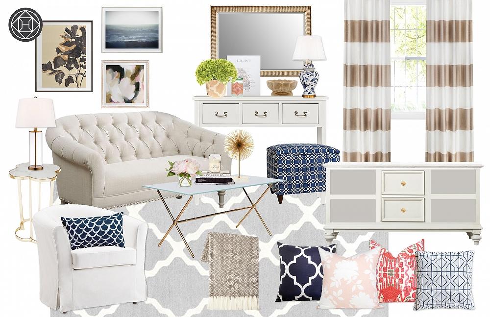 havenly blogger living room