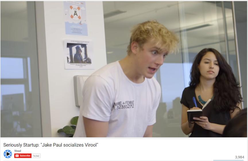 Jake Paul Virool Seriously Start up YouTube