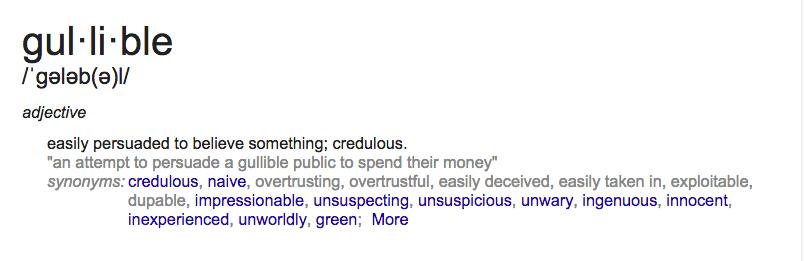 Gullible Definition