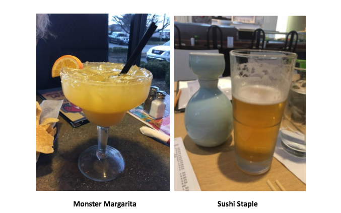 Monster Margarita and Sushi Staple